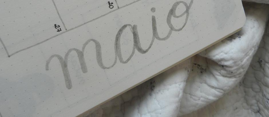 Planejando o mês de maio
