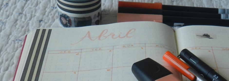Planejando o mês de abril