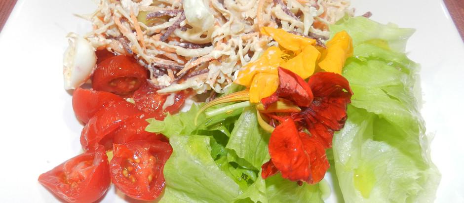 O verão e as saladas