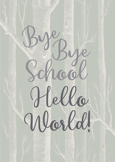 Bye Bye School Hello World