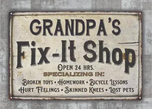 Grandpa's Fix-It Shop
