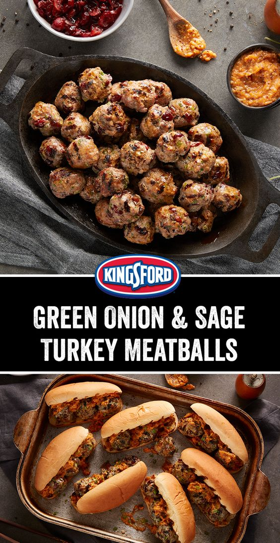 Green Onion and Sage Turkey Meatballs