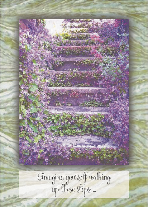 Imagine Yourself Walking - Guided Meditation Card