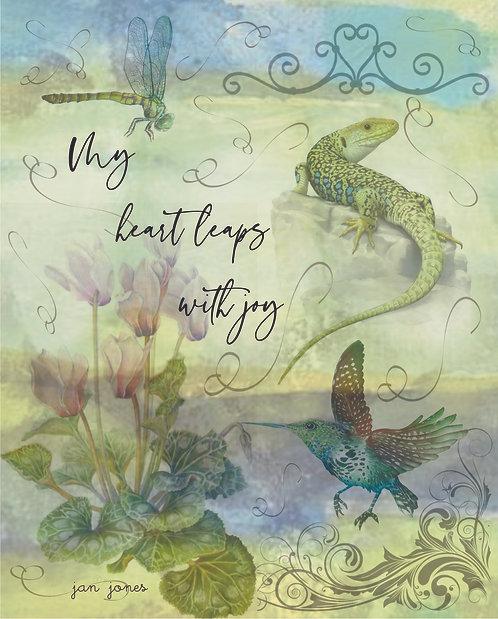 My Heart Leaps With Joy by Jan Jones (Print)