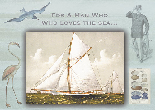 Man and the Sea by Jan Jones (Print)