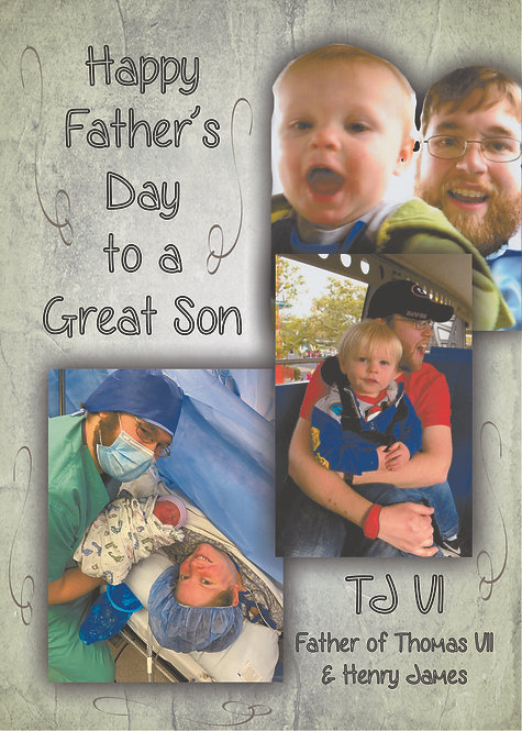 Father's Day Card for Son