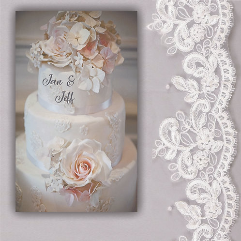 Wedding Cake with Personalized Names PC