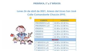 Comunicado vacunas Pre kinder  a  2° básico