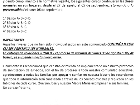 Comunicado N° 2