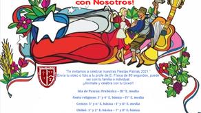 Invitación a celebrar las fiestas patrias 2021