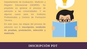 Información de inscripción para la PDT