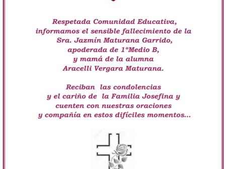 Mensaje de condolencias