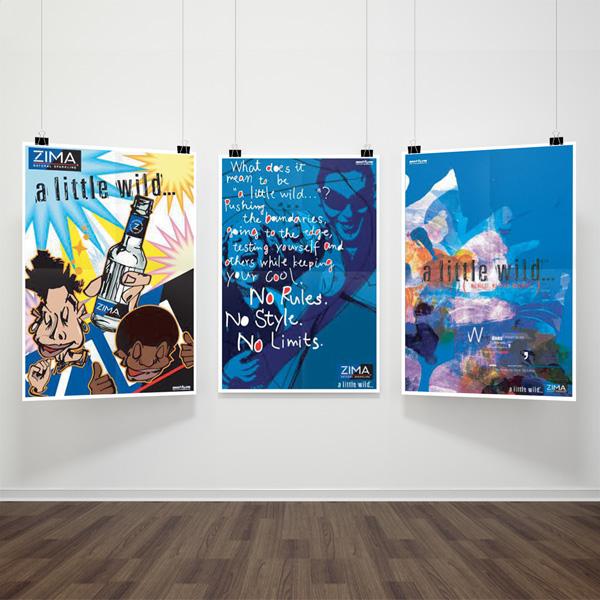 © ZIMA「アメリカ村、船場、堀江でのキャンペーンポスター」