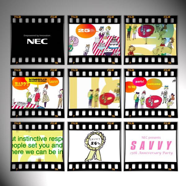 ©雑誌SAVVY 25th party「オープニング映像」