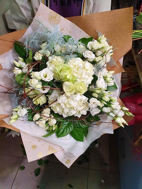 """Bouquet """"Le blanc, bonne fête maman"""""""