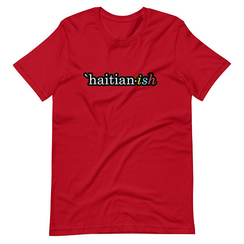 `Haitian-ish: red unisex