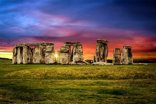 Painted Sky at Stonehenge