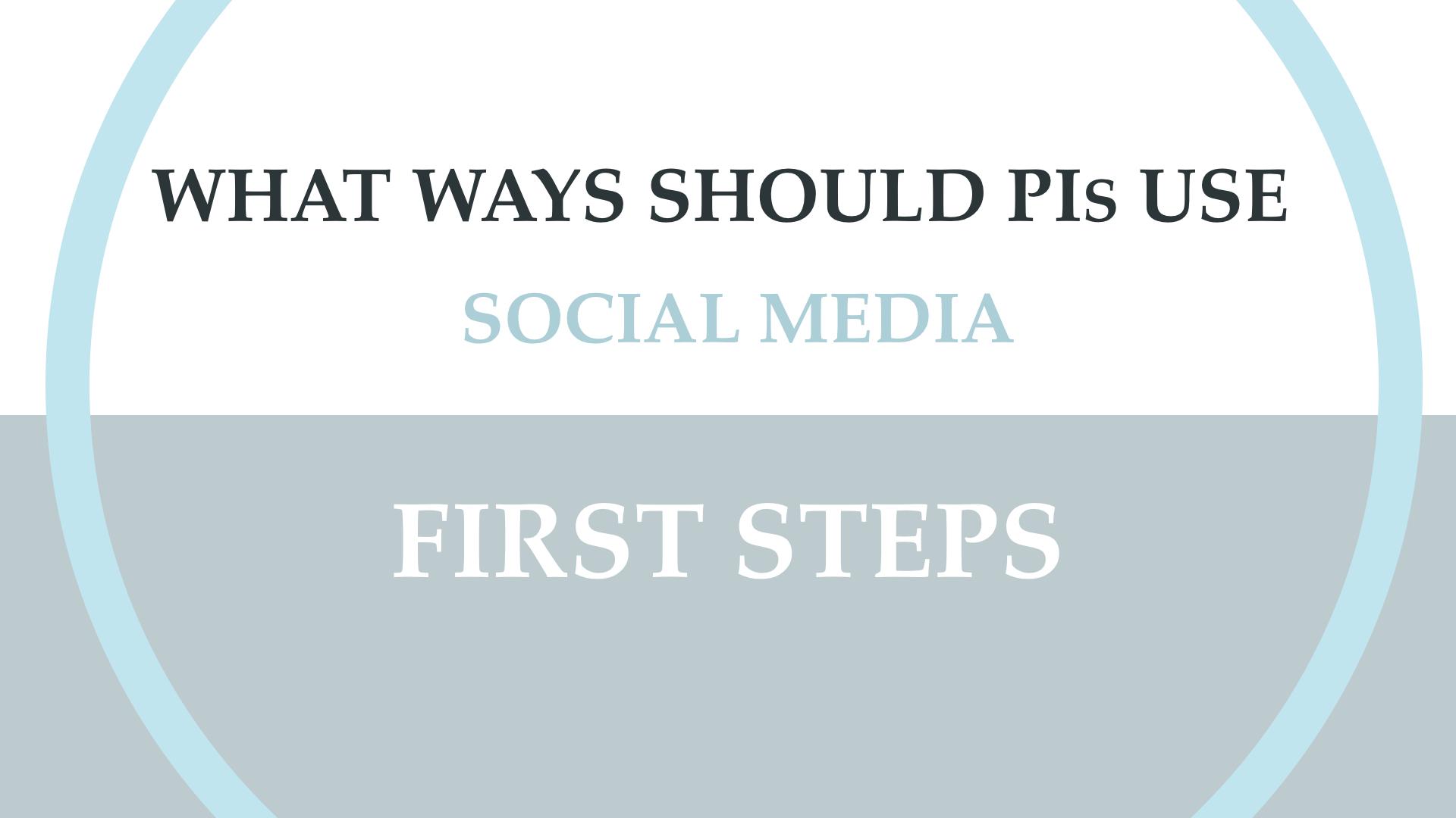 Social Media Analytics and the PI.004