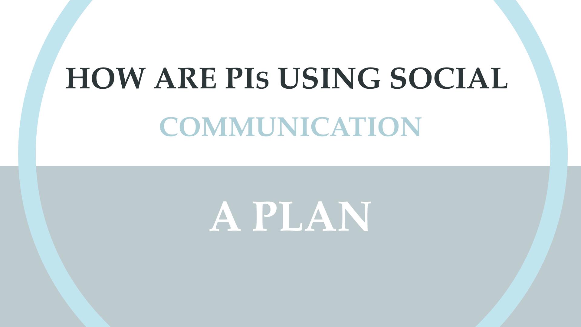 Social Media Analytics and the PI.007