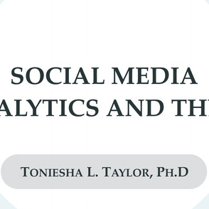 Social Media Analytics and the PI