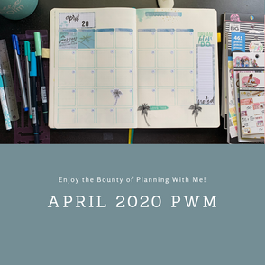 Plan With Me for April 2020 in my Research #BulletJournal