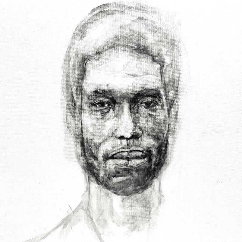 Godfrey, watercolour on canvas sheet, 40.6 x 30.5 cm, 2018