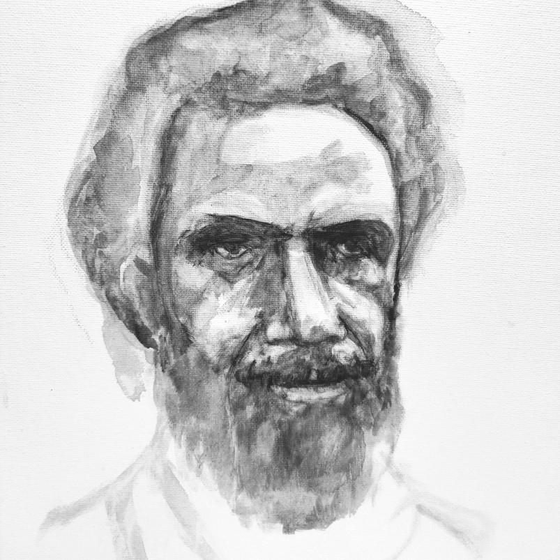 Frank, watercolour on canvas sheet, 22.9 x 30.5 cm, 2018