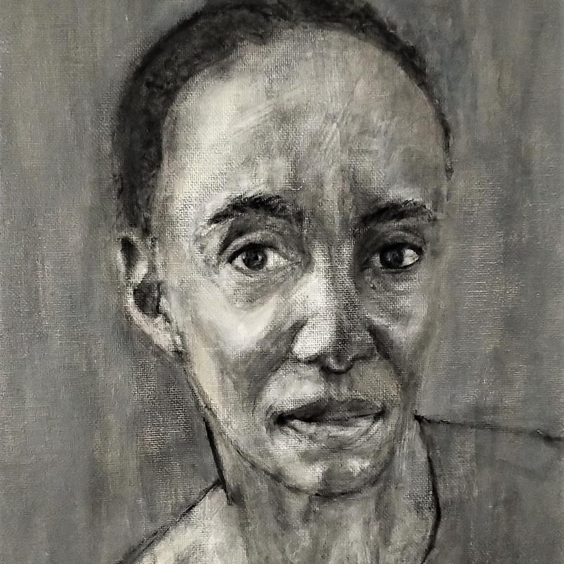 Stephanie, oil painting on canvas board, 33 x 33 cm, 2019