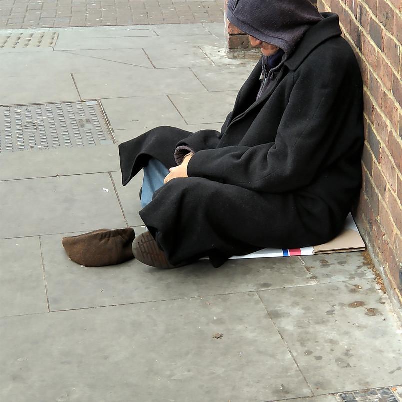 Homeless in Camberwell, BlackBerry KEY 2 mobile phone camera mobile phone camera, 2019