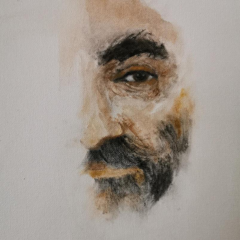 Covid-19, Manjeet Singh Riyat, oil paint on canvas, 30.5 x 40.6 cm, 2020