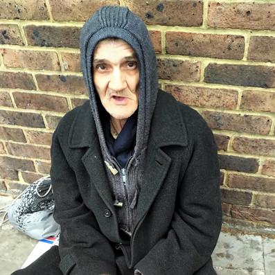 Homeless in Camberwell, BlackBerry KEY 2 mobile phone camera, 2019
