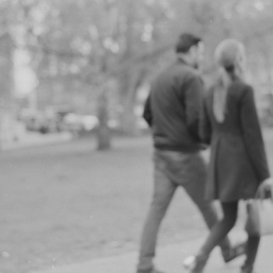 Walking in the park, black and white film image, Fujica ST605 vintage camera, 2019