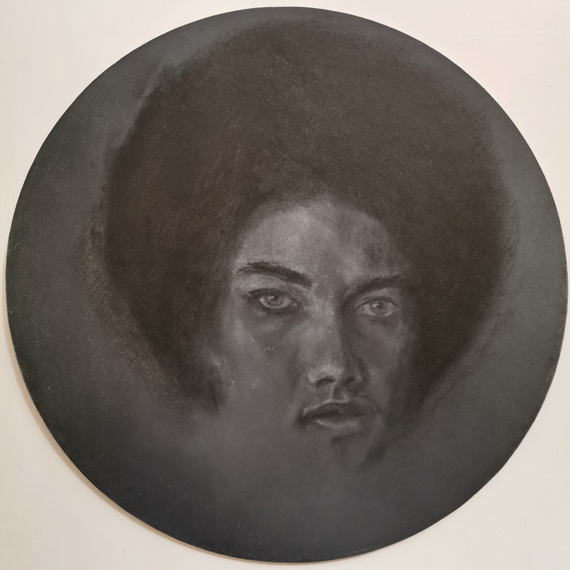 Kathleen, oil paint on canvas board, 40 x 40 cm, 2020