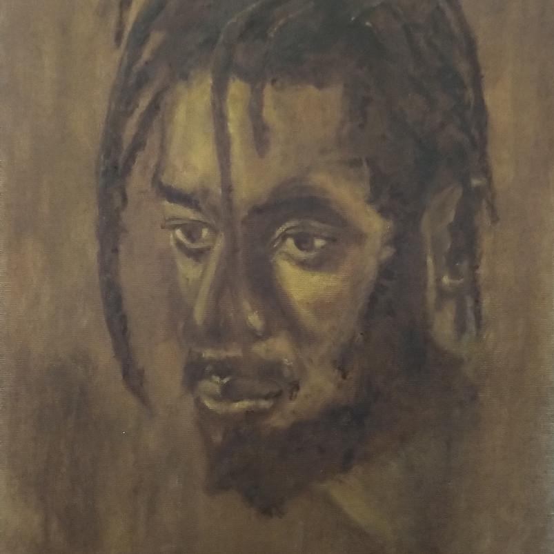 John, oil paint on canvas board, 40 x 30 cm, 2019