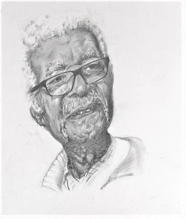 Sam King, graphite pencil on paper, 43 x 30 cm, 2015