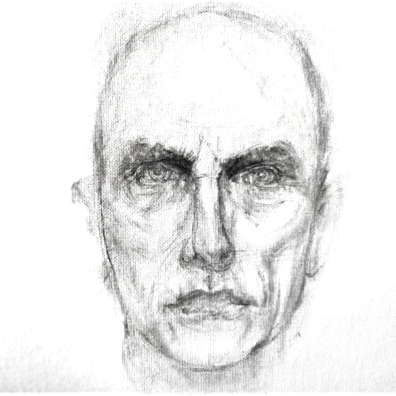 Chris, watercolour on canvas sheet, 30.5 x 40.6 cm, 2019