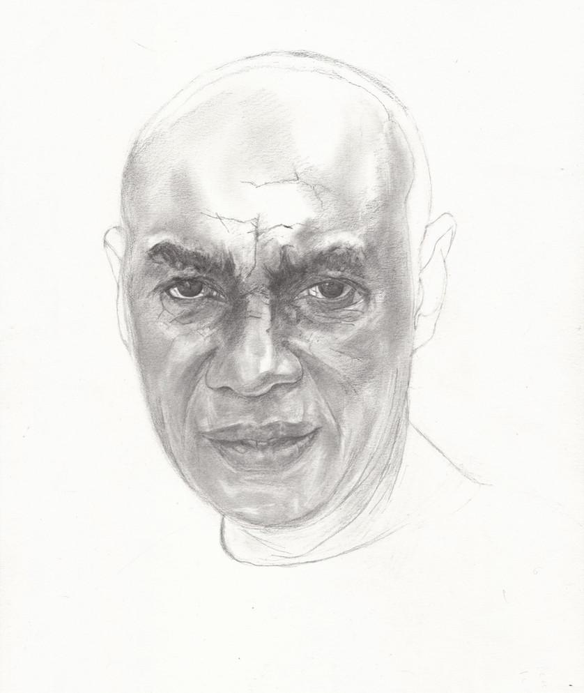 Neil, graphite pencil on paper, 42 x 30 cm, 2018