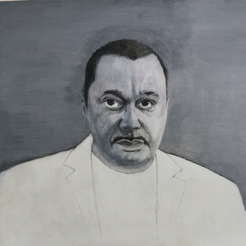 Marc, oil painting on canvas board, 61 x 61 cm, 2020