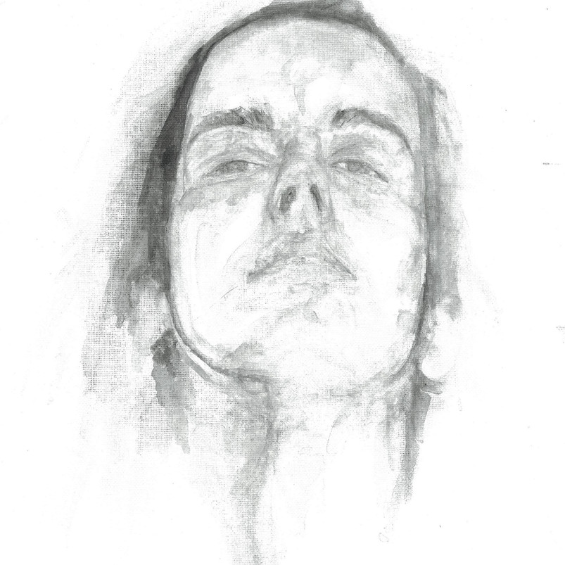 After Mendieta, watercolour on canvas sheet, 40.6 x 30.5 cm, 2018