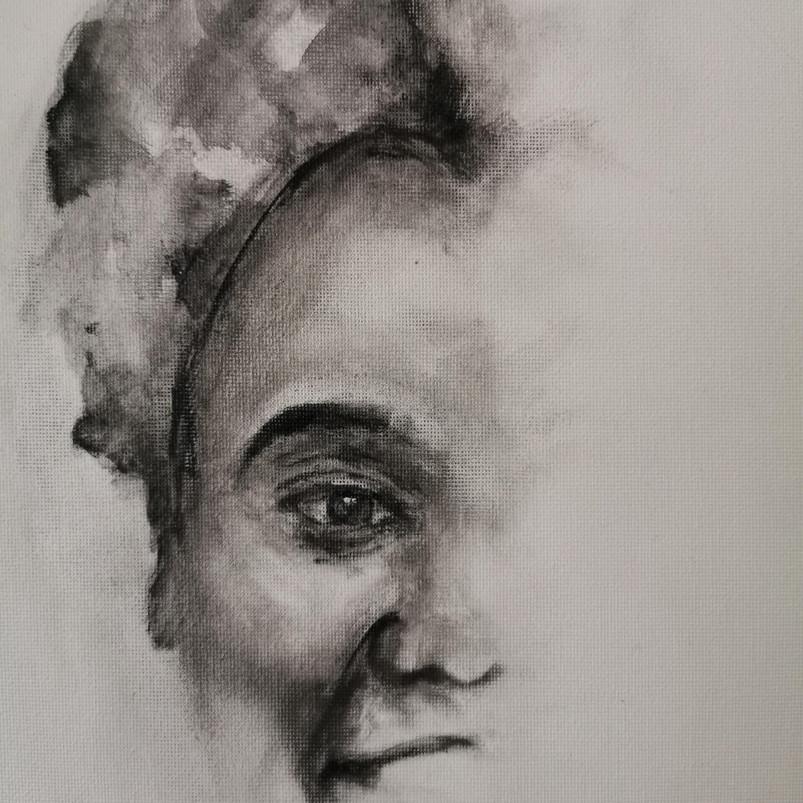 Covid-19, Gladys Mujajati, oil paint on canvas sheet, 30.5 x 40.6 cm, 2020