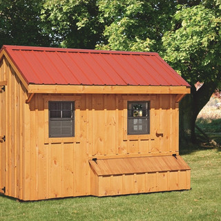 prefab-chicken-coops-natural-stain-front