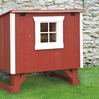 small-chicken-coops-Red-L34-Front-View-1