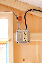 Chickn Coop power outlet and light strip