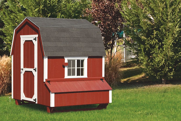 barn style chicken coop sold by lakeside trading