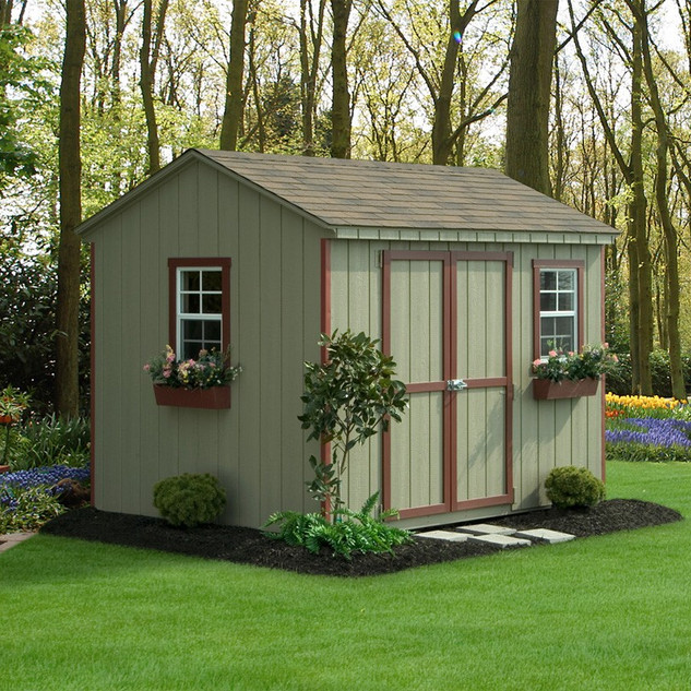 8x10 Duratemp A-Frame with Box Trim and