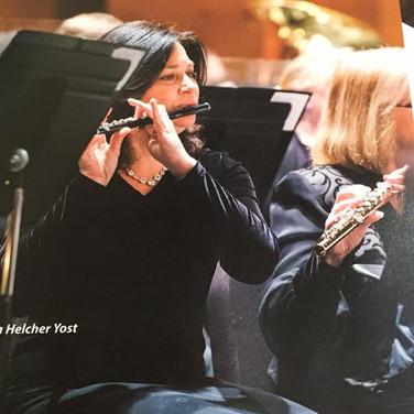 """Regina being featured in """"Flute Talk"""" magazine"""