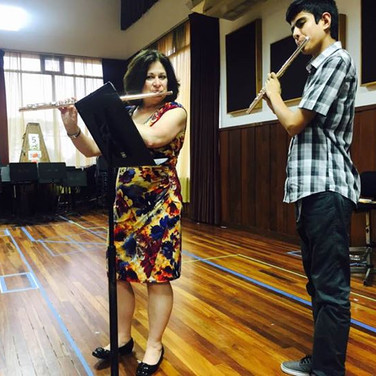 Regina teaching one of the many flute masterclasses