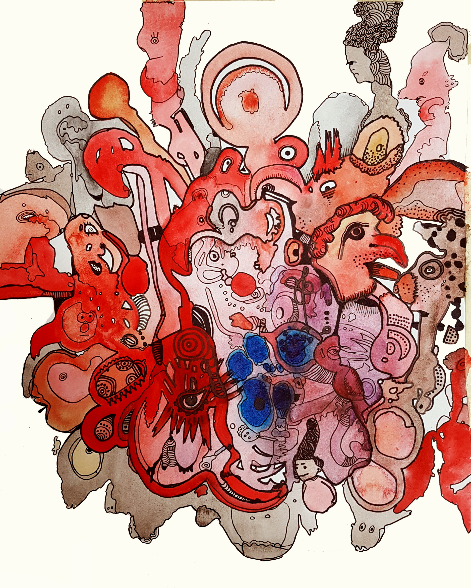Watercolor on paper 50c45 cm