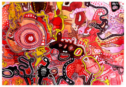 Ink on paper 110x56 2018