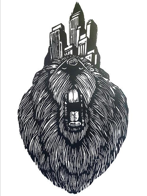 Beaver /woodcut